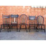 Los Angeles Black Vintage Dining Chairs - $639.00